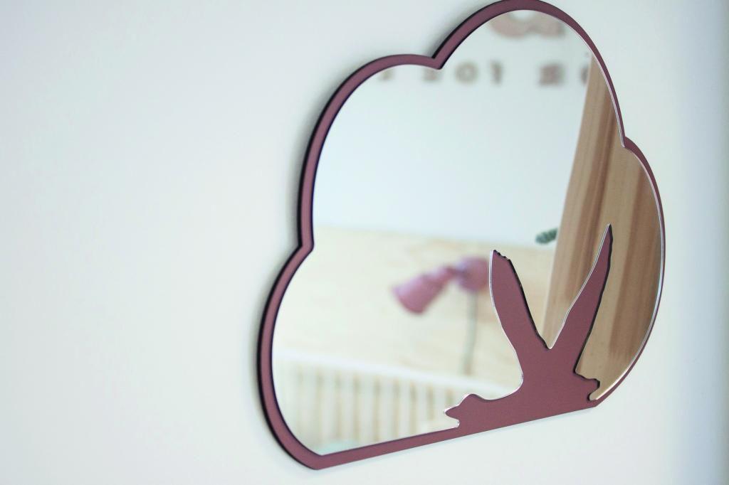 spiegel kinderzimmer schwan glas multiplex sebra. Black Bedroom Furniture Sets. Home Design Ideas